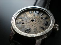 """Future Panerai"" dial watch, enamel  grand feu. 37 mm"