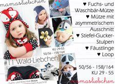 EBook E-Book #11 Mütze Fuchs Waschbär Loop Stulpen von mamasliebchen-naeht auf DaWanda.com