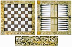 Thomas guild - medieval woodworking, furniture and other crafts: Medieval chess boards Chess Pieces, Game Pieces, History Of Chess, Medieval Games, Medieval Furniture, Woodworking Projects, Woodworking Furniture, History Activities, Medieval Manuscript