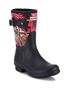 a8bfe065869b7 Hunter - Original Jungle-Print Rubber Rain Boots
