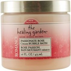 The Healing Garden Cream Bubble Bath - Passionate Rose: 16 OZ by The Healing Garden. $4.99. Healing garden Romance. Passionate rose cream bubble bath. 16 fl oz. The Healing GardenTM - Nourish Your Skin and Soothe Your SoulTM Add a handful of this creamy bubble bath under warm running bath water for a decadent and indulgent bath experience. Enriched with our exclusive Herbal-Nutrient Complex Rose, Vanilla: skin softening Bergamot: soothing Vitamins A, C, E: protective antioxidant...