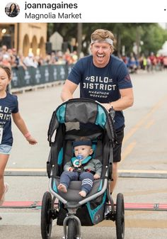 Joanna Gaines Cheers on Chip As He Runs Half Marathon with Daughter Ella (and Baby Crew!