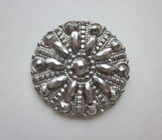 1800 to 1910 Court Dress Steel Buttons.  Riveted With  Round and Boat Faceted Steels. Vintage Steel Buttons. OneWomanRepurposed  B  367 by OneWomanRepurposed on Etsy