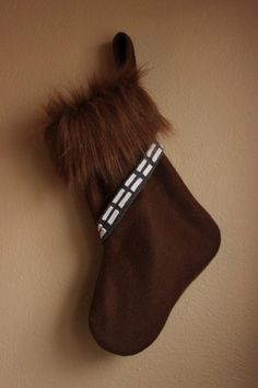 Wookiee Christmas stocking- I can totally make this.