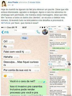 Cantada via Whatsapp é prática comum, dizem funcionários de telemarketing