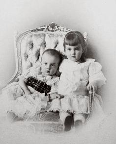 Grand Duke Dmitri Pavlovich Romanov of Russia and his sister Grand Duchess Maria Pavlovna Romanova of Russia in 1892.A♥W