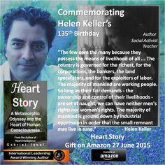 Official website of Heart Intelligence - Book Trilogy and Film Social Activist, Helen Keller, Gabriel, Teacher, Author, Film, Heart, Birthday, Books