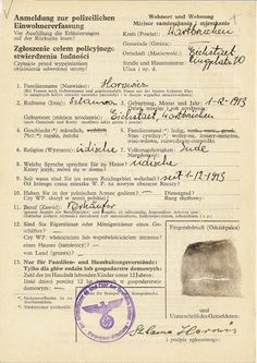 THIS DOCUMENT WAS USED TO REGISTER JEWS AND THEIR POSSESSIONS IN OCCUPIED POLAND