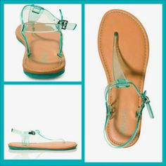 Bought these last week. F21 jelly thong sandal.. good way to play with the jelly trend w/o too much sweaty jelly!