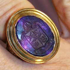 Bishop's episcopal ring - Amethyst intaglio