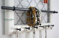 Jewelry Organizer 10 x 12 White Jewelry Frame by hudsonlace, $34.50