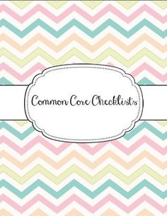 ELA and Math Common Core Checklists for grades 1-5