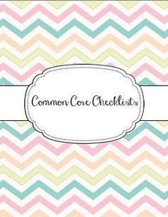 ELA and Math Common Core Checklists for grades 1-5