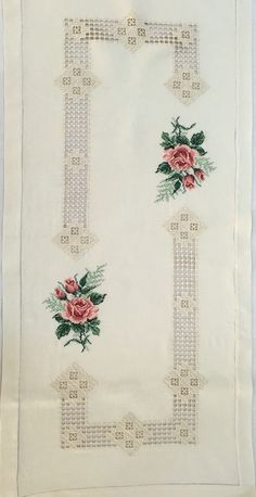 This Pin was discovered by Tuğ Hardanger Embroidery, Embroidery Stitches, Embroidery Patterns, Hand Embroidery, Types Of Embroidery, Learn Embroidery, Embroidery Fashion, Cross Stitch Borders, Cross Stitch Designs