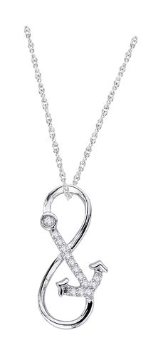 Robert Irwin Jewelers - .06 Carat Diamond Love Is My Anchor Infinity Necklace, $89.00 (http://www.rijewelers.com/06-carat-diamond-love-is-my-anchor-infinity-necklace/)