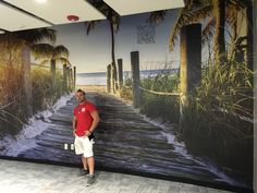 Photo mural installation by d&l wall design Photo Mural, Wall Design, Wall Decor, Wallpaper, House, Ideas, Wall Hanging Decor, Home, Wallpapers
