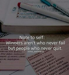 Don't be a quitter!