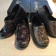 Dansko size 39 bundled of 2 clogs Brand new Phyton and Mabel grey Dansko clog. Dansko Shoes Mules & Clogs