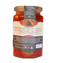 Peperoncini piccanti farciti aromatizzati al tartufo Salsa, Jar, Food, Essen, Salsa Music, Meals, Yemek, Jars, Eten