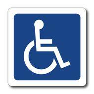 REFM500 - Reflective Handicapped Symbol Automotive Magnet - during the day