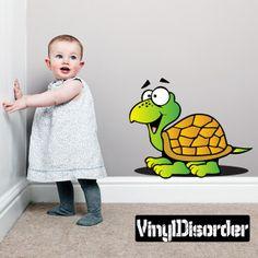 Turtle Cartoon Critter Vinyl Wall Decal Car Sticker TF Color 001