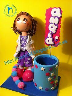 * Fofuchas, Regalos y Trabajos realizados en EVA *: Fofucha Educadora de Infantil