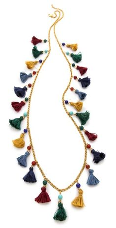Ben-Amun Long Mini Tassel Necklace | SHOPBOP