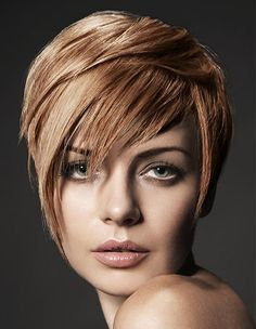 A short blonde straight Multi-Tonal hairstyle by Urban Retreat