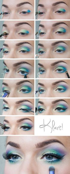 How TO Make Peacock Eyes Makeup