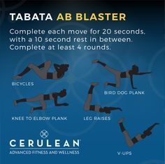 #Tabata Ab Blaster Workout - just in time for the post-Thanksgiving holiday. #Scottsdale #LiveCerulean #Fitness #AbWorkout
