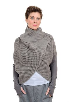 NFP: New Form Perspective Chunky Stitch Cocoon Cardie, Stone