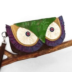 Owl Clutch Wristlet New and Vintage Silk with by KichiKimani, $98.00