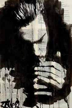 "Saatchi Art Artist Loui Jover; Drawing, ""study for the smoker"" #art"