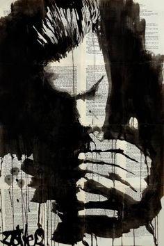 "Saatchi Art Artist Loui Jover; Drawing, ""study for the smoker"" #art"