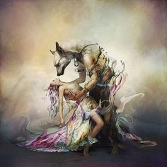 Album cover art for a new song of Japanese band L'Arc-en-Ciel ~ Painting by Ryohei Hase