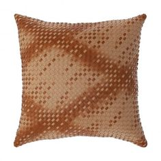 "Faux Leather Basket Weave Luxury Sepia Decorative Cushion / Throw Pillow KURRI SEPIA 18""X18""  #decorativepillow #throwpillow #cushion #cushioncover  #recycled #livingroom #bedroom #homedecor #amber #sepia  #fauxleather #mancave #rustic #masculine #pillow #basketweave #woven #luxury"