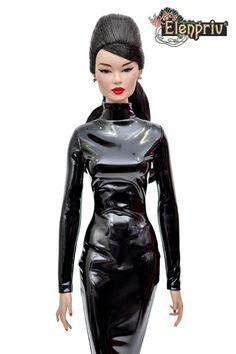 ELENPRIV ivory jersey long sleeved mini dress for Fashion royalty dolls Latex Suit, Dress Up Dolls, Long Sleeve Mini Dress, Body Size, Royalty, Bodycon Dress, Celebs, Bjd Dolls, Model