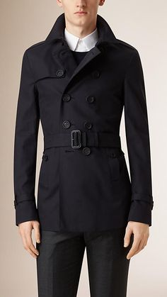 4c22df6378dd35 Ink Cotton Gabardine Trench Coat - Image 2 Trench Coat Men, Burberry Trench  Coat,