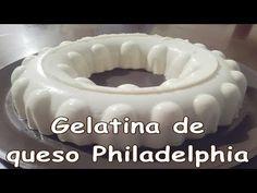Gelatina de queso philadelphia - YouTube