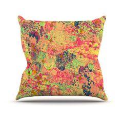 Kess InHouse Ebi Emporium Time For Bubbly Outdoor Throw Pillow - JD1018AOP0
