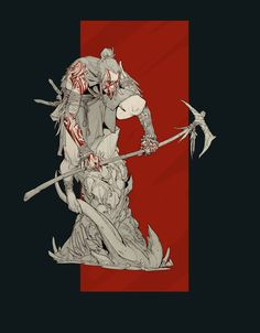 ArtStation - Demon Tribe Warrior - miniature concept, Timofey Stepanov