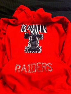 Texas Tech Red Raider Hoodie by ThreadsToo on Etsy, $35.00