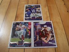 ELI MANNING JOHNATHAN HANKINS RC BRANDON MYERS 2013 Topps New York Giants Lot