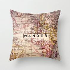 wander Throw Pillow by Sylvia Cook Photography - $20.00    Would look beautiful on a old leather battered armchair