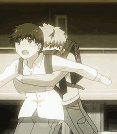 Two best friends. Kaneki and Hide ~ Tokyo Ghoul