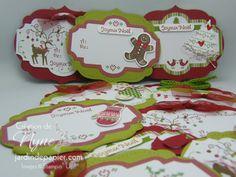 Christmas tags Étiquettes de Noël 100% Stampin'UP www.jardindepapier.com