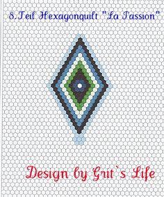 """Grit's Life: 8.Teil Hexagonquilt """"La Passion"""""""