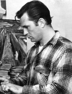 Jack Kerouac (1922 – 1969), American novelist and poet. He  is recognized for his method of spontaneous prose.