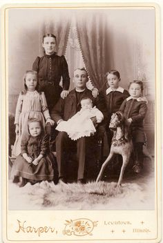 Lewistown Illinois Boy On Hobby Horse Vintage Family Cabinet Photograph in Collectibles, Photographic Images, Vintage & Antique Cabinet Photos Vintage Family Pictures, Old Family Photos, Old Photos, Vintage Photos, Haunted Dolls, Old Photography, Hobby Horse, Victorian Era, First Photo