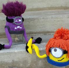 crochet minion hats! WANITA!!!!! PLEASEEE @Wanita Fraley